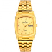 Timesquartz Stylish and Comfortable Analogue Watch for Men- Golden Dial Analogue Watch- A 180