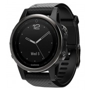 Ceas activity outdoor tracker Garmin Fenix 5S Sapphire Edition, GPS, HR (Negru)