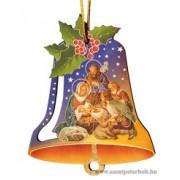 Karácsonyfa dísz harang 3 db /cs