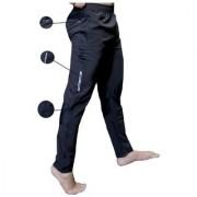 Nike Black Polyester Lycra Running TrackPants For Men