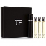 Tom ford private blend oud wood collection travel confezione regalo 10 ml oud wood edp + 10 ml oud fleur edp + 10 ml tobacco oud edp + nebulizzatore ricaricabile unisex