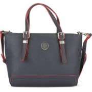 Tommy Hilfiger Women Casual Blue PU Tote