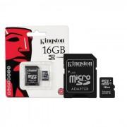 Kingston microSDHC Card 16GB C4 + SD Adapter