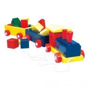 Jucarie Bino Trenulet colorat cu forme