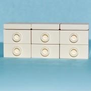 LEGO Furniture: White Bedroom Dresser - Custom Set (Parts + Instructions)