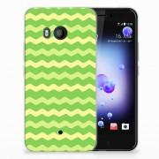B2Ctelecom HTC U11 TPU bumper Waves Green