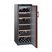 Wijnkoelkast Zwart/Bordeaux Rood - Dichte Deur | 200 Flessen | Liebherr | 409 Liter | WKr 4211 | 60x74x(h)165cm