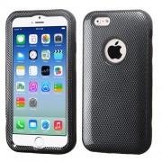 Funda Protector Iphone 6 Mixto Negro Carbon Triple Layer