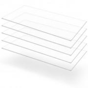 vidaXL Прозрачни акрилни плоскости, 5 бр, 60x120 см, 2 мм