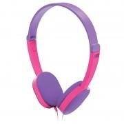 Auscultadores Estéreo Sobre-Orelha Hama Kids - 3.5mm - Púrpura / Cor-de-Rosa