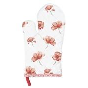 Clayre & Eef POF44 Edényfogó kesztyű 16x30cm pamut, Poppy Flowers
