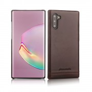 PIERRE CARDIN Genuine Leather+PC Casing for Samsung Galaxy Note 10 / Note 10 5G - Coffee
