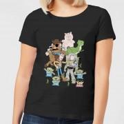 Disney Toy Story Group Shot Dames T-shirt - Zwart - 3XL - Zwart
