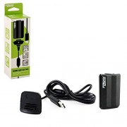 """KMD """"Charge and Play"""" Charger for Xbox 360, Black Standard Edition"""