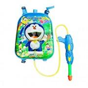 RIANZ Cartoon Character Backpack Water Gun Holi Pressure Water Gun Pichkari Tank Summer Beach Water Blaster Baby Toys Shooting Spray, Color May Vary (Dore)