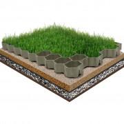 vidaXL Решетки за тревна площ, 16 бр, зелени, 60х40х3 см, пластмаса