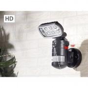 VisorTech HD-IP-Kamera m. LED-Flutlicht, 8 W, Bewegungsverfolgung, SD-Aufz., App