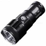 nitecore TM15 3 x cree linterna LED de aleacion de aluminio XM-L U2 2450lm - negro (4 x 18650 u 8 x baterias CR123)