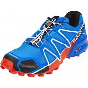 Salomon Speedcross 4 Hardloopschoenen Heren rood/blauw 2017 Trailrunning schoenen