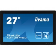 Iiyama T2735MSC-B2 Touchscreen monitor 68.6 cm (27 inch) Energielabel: B (A+ - F) 1920 x 1080 pix 16:9 5 ms VGA, DVI, HDMI, USB 3.0 AMVA+ LED