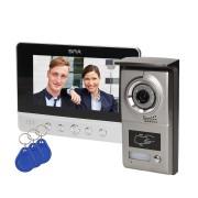"""Domovní bezsluchátkový videotelefon pro 1 byt se čtečkou karet CHARON BAX 7"""", ORNO VDP-40"""