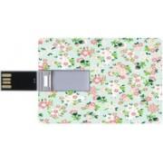 ShutterBugs Designer card shape pendrive | 16 GB Pendrive | Floral printed pendrive 16 GB Pen Drive(Green, White)