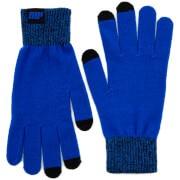 Gebreide handschoenen - blauw - S/M - Blauw