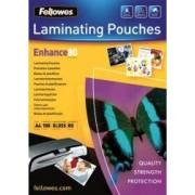 Folie laminare Fellowes A4 216x303mm 80 microni 100 bucati
