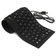 Oxza Lightweight Ultra-Slim Portable Wired USB Laptop Keyboard (Black)