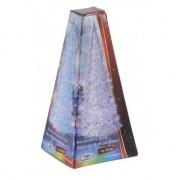 Merkloos Piramide LED licht kerstboom 18 cm