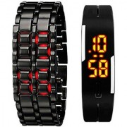 TRUE CHOICE COMBO OF DIGITAL SAMURAI LED SPECIAL SUMMER COLLECTION Digital Watch - For Boys Men Couple 6 month warranty
