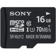 Sony 16 GB MicroSDHC Class 10 70 MB/s Memory Card(With Adapter)