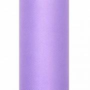 Merkloos Decoratiestof tule paars 15 cm breed