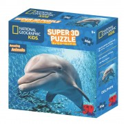 National Geographic Puzzle 3D - Dupin 150 kom 46x31cm National Geographic kids