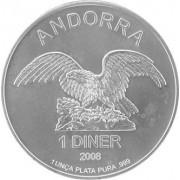 Bavorská mincovna Stříbrná investiční mince Andorra Eagle 1 Oz