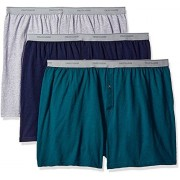Fruit of the Loom Men's Big Man Knit Boxers (Pack of 3) (Medium, Assorted Solids)