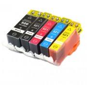 (5pack) CANON PGI-520 CLI-521 multipack do tlačiarne Canon - kompatibilný