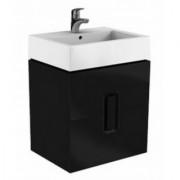 Baza lavoar cu doua sertare Kolo Twins,negru,60x46xH57 -89494