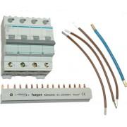 Hager installatieautomaat VKS05SK 3P+N B16A (QuickConnect)