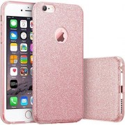 Hq-Cloud® Housse Étui Coque Gel En Silicone Paillette Bling Bling Pour Apple Iphone 6 Plus /6s Plus ( 5,7 Pouces) - Rose Brillant