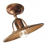 Ceiling lamp Osteria made of oxidized brass
