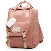 Fashion Casual rugzak Laptop tas Student reistas met handvat grootte: 38 * 28 * 15 cm (donker roze)