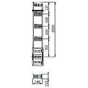 Canalis -lungime distributie coloana verticala - 500 a - 2 m -3 trape derivatie - Bara capsulata-canalis ks - Canalis - KSA500EV4203 - Schneider Electric