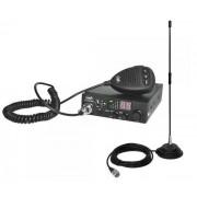 Kit Statie radio CB PNI ESCORT HP 8000L ASQ + Antena CB PNI Extra 40 cu magnet (Negru)
