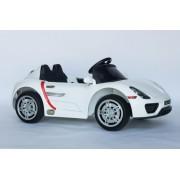 Porsche Auto za decu na akumulator sa mekim gumama i kožnim sedištem - Beli ( A1038-1 )