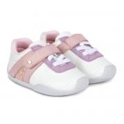 Pantofi Fetite Bibi Fisioflex 3.0 Albi/Glitter
