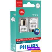 Philips LED Ultinon 12v BAY15d P21/5W Vermelho 11499ULRX2 ( 2 Lâmpadas )