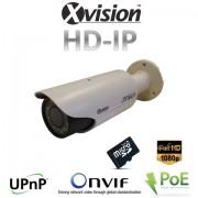 IP Full HD varifokálna kamera s 20m IR + POE + micro SD