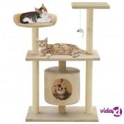 vidaXL Penjalica za mačke sa stupovima za grebanje od sisala 95 cm bež
