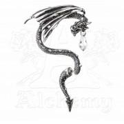 ALCHEMY GOTHIC fülbevaló - Crystal Dragon Fül Wrap - E330